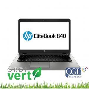Portatif HP Elitebook 840 G3 14po i5/8G/240SSD/W10P OrdiVert revalorisé