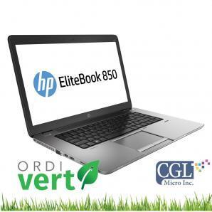 Portatif HP EliteBook 850 G2 15po i5/8G/240SSD OrdiVert Revalorisé