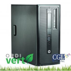 Tour HP ProDesk 600 G2 i5/8G/120SSD+500G OrdiVert revalorisé